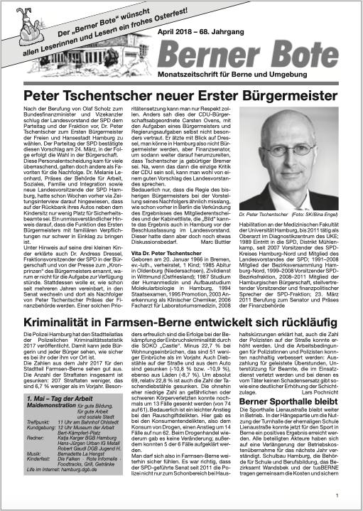 Berner Bote, 2018-04, Titelbild