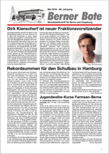 Berner Bote 2018-05, Titelbild
