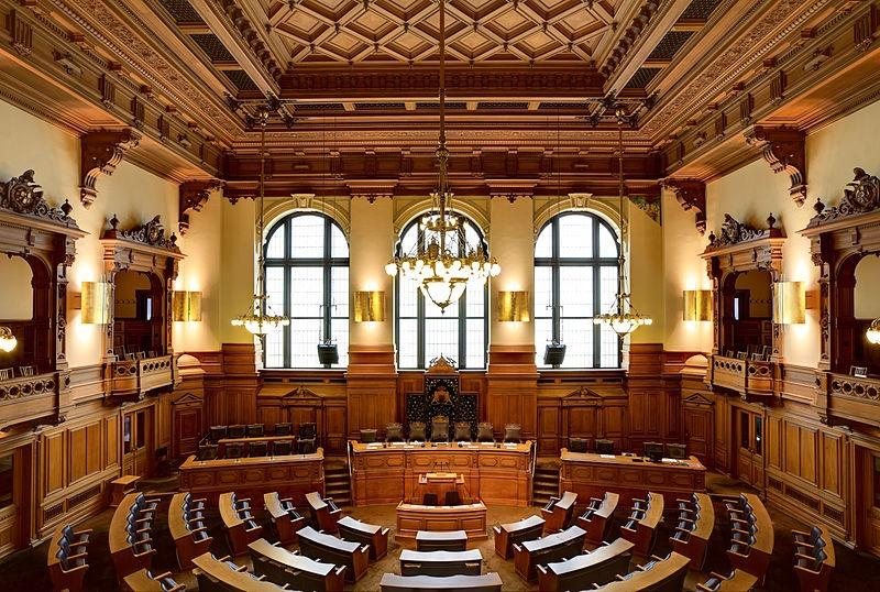Hamburg, Rathaus, Plenarsaal_Hamburg