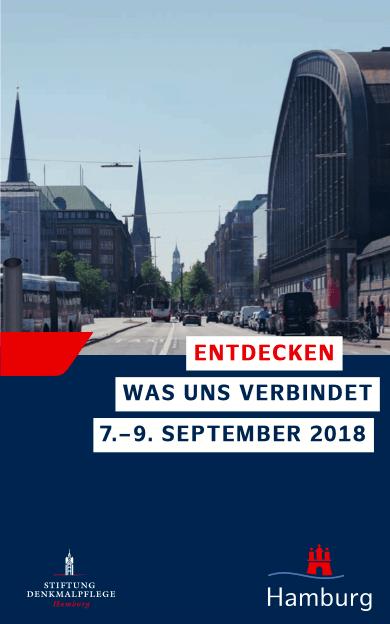 Tag des offenen Denkmals 2018, Entdecken was uns verbindet, 7.-9. September 2018