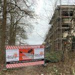Berner Gutspark, Absperrungen am Plattenfoort. Hamburg-Farmsen-Berne, Januar 2019. Foto: Marc Buttler