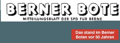 Rubrik Berner Bote vor 50 Jahren