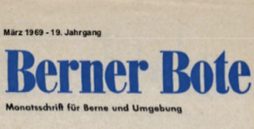 Schriftzug des Berner Boten, März 1969