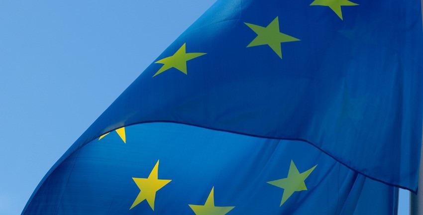 Flagge Europas (Ausschnitt)