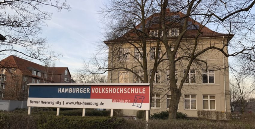 Volkshochschule Hamburg Ost in Hamburg-Farmsen-Berne, Februar 2019, Foto: Marc Buttler