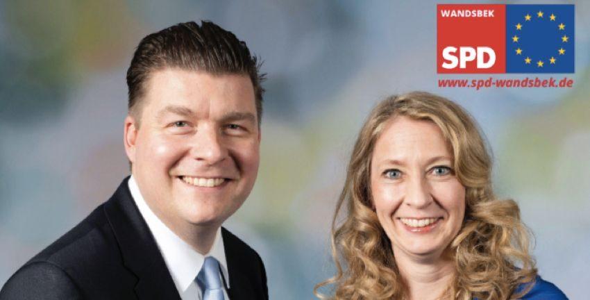 Andreas Dressel und Anja Quast, Foto: SPD Wandsbek