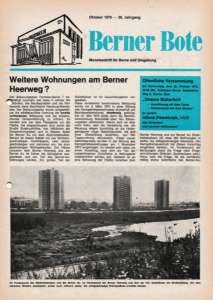 Berner Bote, Oktober 1970