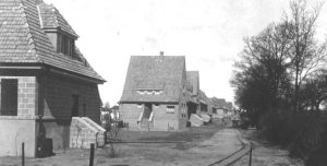 Gartenstadtsiedlung Hamburg-Berne, Baubeginn 1920-1921; Foto: Sammlung Gartenstadt Hamburg eG, Hamburg-Farmsen-Berne