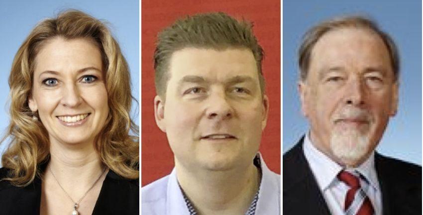 Anja Quast, Andreas Dressel und Peter Pape