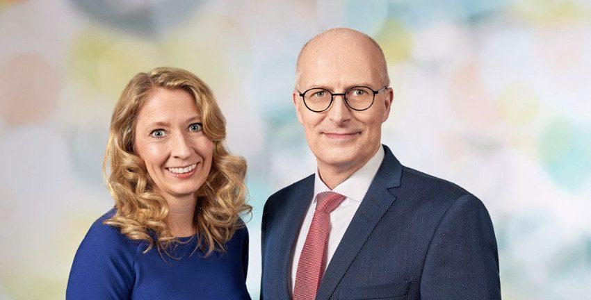 Anja Quast und Peter Tschentscher Foto: SPD