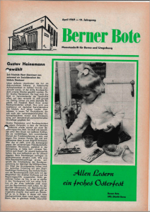 Berner Bote 1969, April (Titelbild)