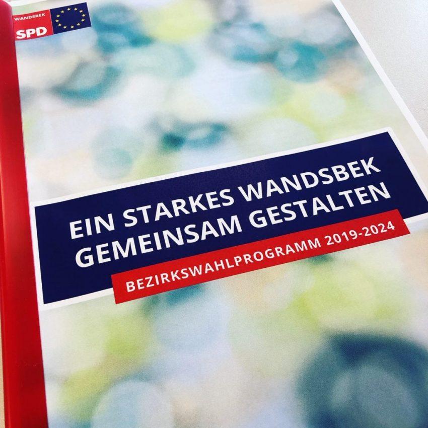 SPD-Wandsbek, Wahlprogramm 2019, Titelbild