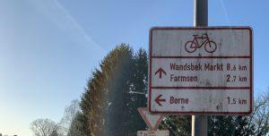Velorouten, Wegweiser in Farmsen-Berne (2019)