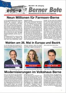 Berner Bote, Mai 2019 (Titelbild)