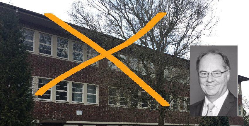 Das Schulgebäude Lienaustraße kann hier weg, so Ralf Niemeyer. Foto [M]/(c): Archiv BB und CDU