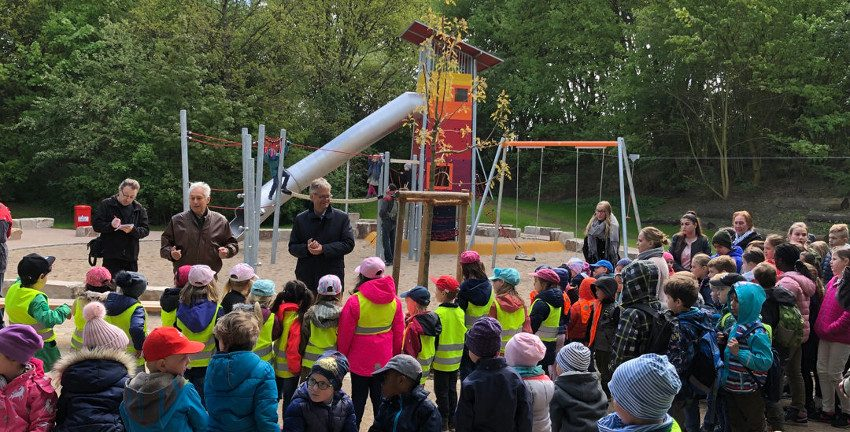 Spielplatz Wiesengrund, Wiedereröffnung 2019 (Foto: www.buschhueter.de)