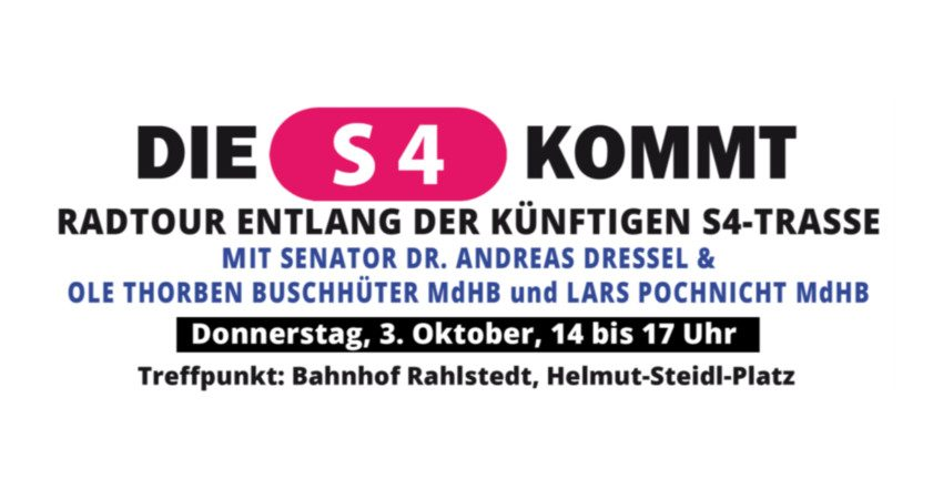 Die S4 kommt, Fahrradtour am 3.10.2019