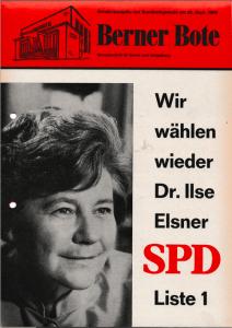 Berner Bote, September 1969, Sonderausgabe zur Bundestagswahl (Titelbild)