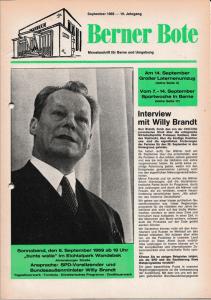 Berner Bote, September 1969 (Titelbild)