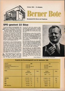 Berner Bote 1969-10, Titelbild