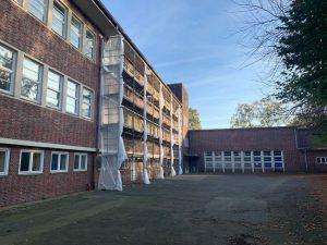 Sanierung der Fenster am Schulgebäude Lienaustraße, Oktober 2019
