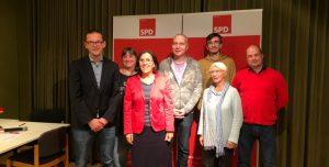 Kandidatinnen und Kandidaten der SPD im Wahlkreis 12 für die Wahl zur Hamburgischen Bürgerschaft im Februar 2020. Lars Pochnicht, Sandra Wohlert, Regina Jäck, Carsten Heeder, Sebastian Hoffmann, Susanne Kröger, Tobias Saling. Foto: SPD