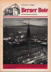 Berner Bote, November 1969 (Titelbild)
