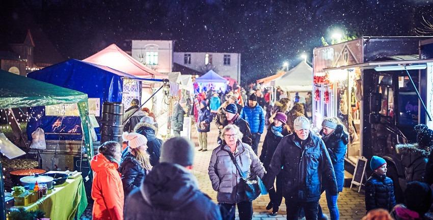 Adventsmarkt auf dem Gut Karlshöhe; Foto: Ronja Hartmann