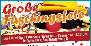Faschingsfete der FF Berne am 01.02.2020, ab 19:30 Uhr