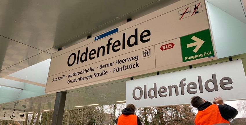 Bahnhof Oldenfelde in Farmsen-Berne, Hamburg (2019)