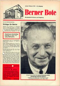 Berner Bote 1970-01/02 (Titelbild)