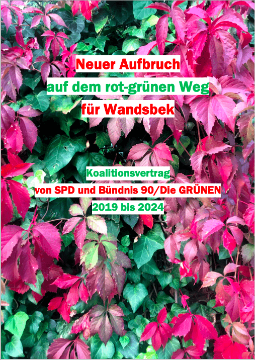 Koalitionsvertrag Wandsbek, 2019 bis 2024 (Titelbild)