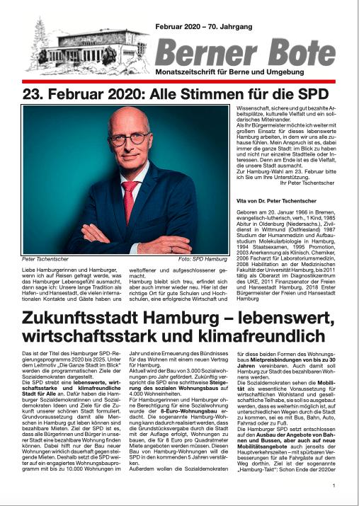 Berner Bote 2020-02 (Titelbild)