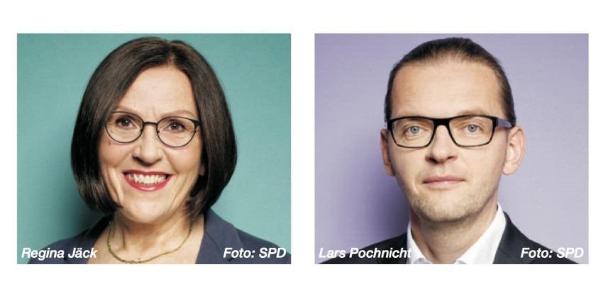 Regina Jäck und Lars Pochnicht (2020, Foto: SPD)