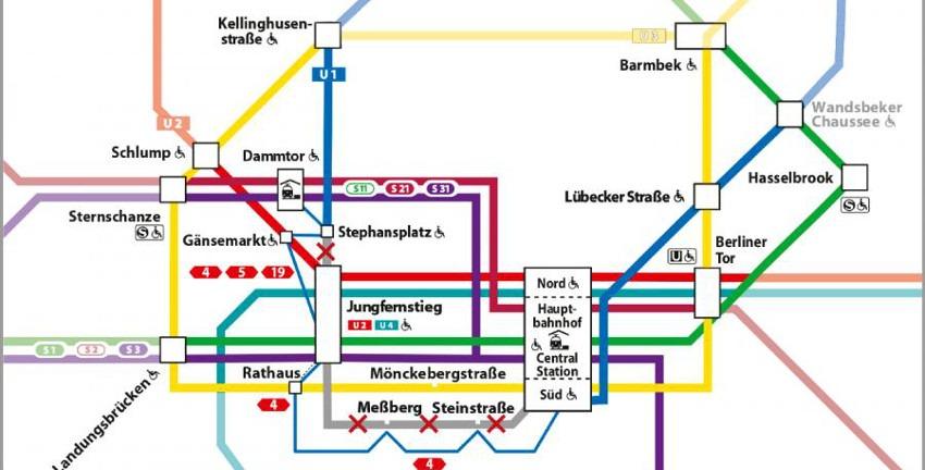 Sperrung der U1 im Sommer 2020 zwischen den Haltestellen Stephansplatz und Hauptbahnhof Süd