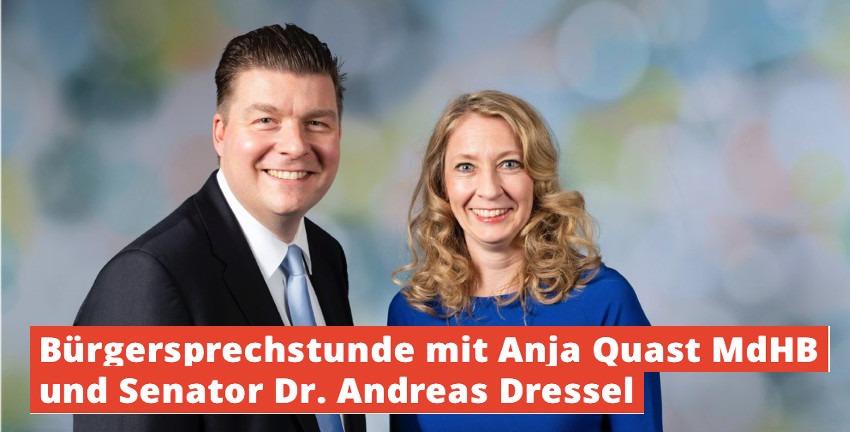 Bürgersprechstunde mit Anja Quast und Dr. Andreas Dressel
