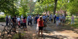 Politische Fahrradtour durch Farmsen-Berne, 2020