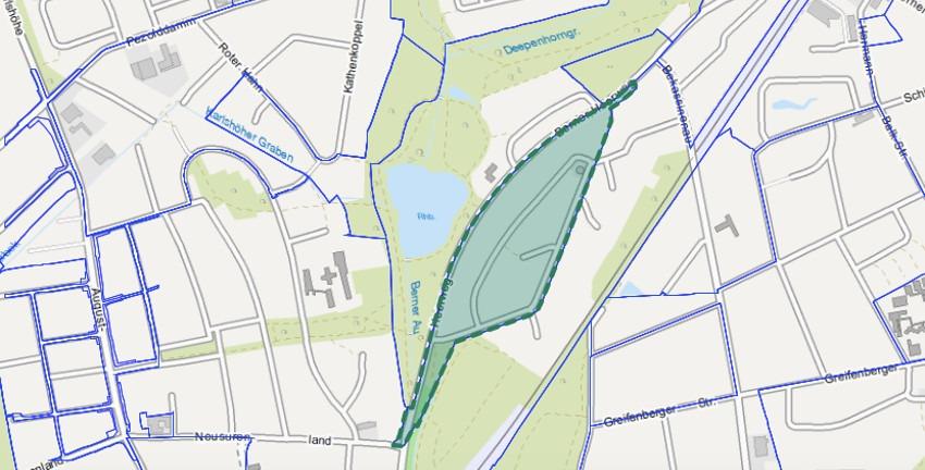 Bebauungsplan Farmsen-Berne 7 (c) FHH/Landesbetrieb Geoinformation und Vermessung