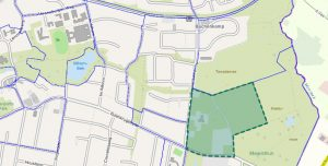 Bebauungsplan Volksdorf 46, Karte; Grafik: (c) Freie und Hansestadt Hamburg, Landesbetrieb Geoinformation und Vermessung, https://www.geoinfo.hamburg.de/