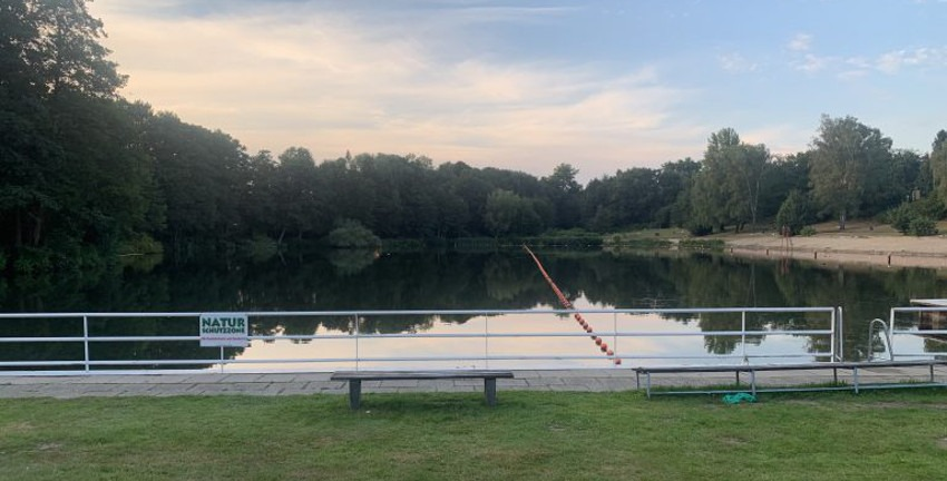 Strandbad Farmsen in Hamburg-Farmsen-Berne; August 2020 (Foto: Marc Buttler)