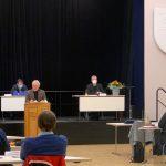 Bezirksversammlung Wandsbek im Bürgersaal, Foto: Marc Buttler, Januar 2021