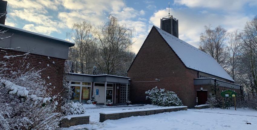 Friedenskirche Berne, Januar 2021, Foto: Marc Buttler