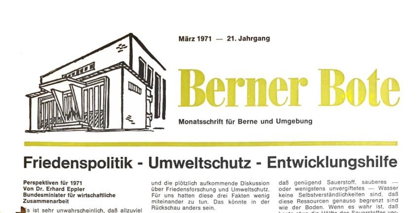 Berner Bote, März 1971