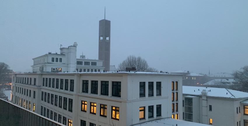 Rathaus Wandsbek (Stormarnhaus) im Februar 2021, Foto: Marc Buttler