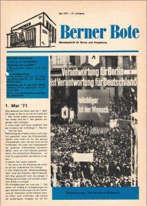 Berner Bote, Mai 1971 (Titel)