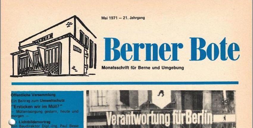 Berner Bote, Mai 1971