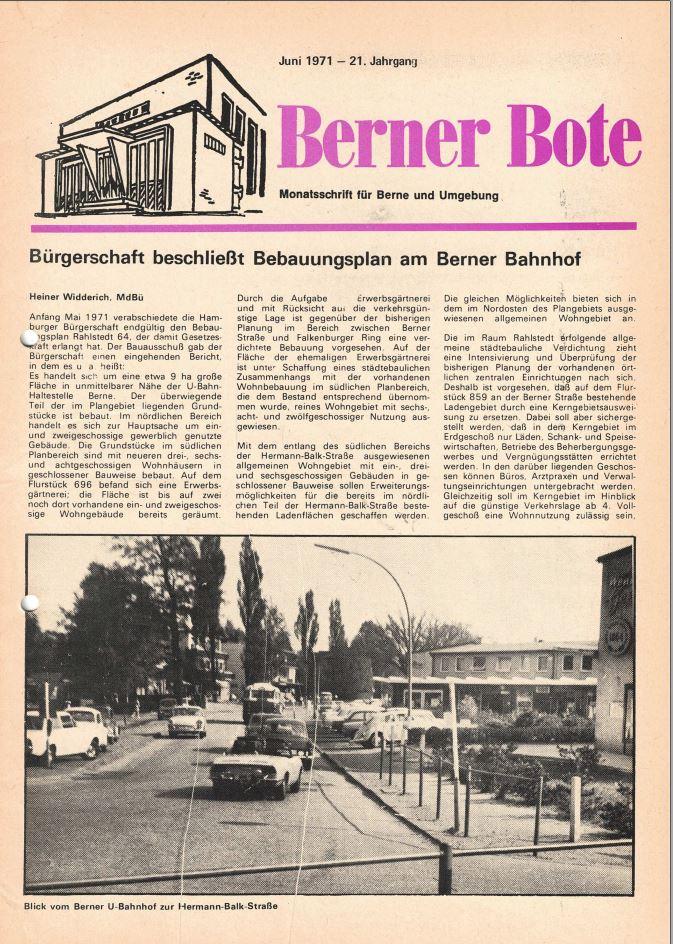 Berner Bote 1971-06 (Titelbild)