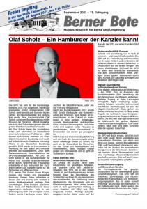 Berner Bote 2021-09 (Titelbild)