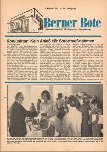Berner Bote, Oktober 1971