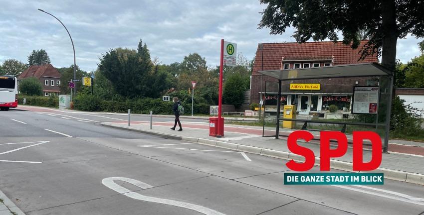 Bushaltestelle Lienaustraße in Farmsen-Berne